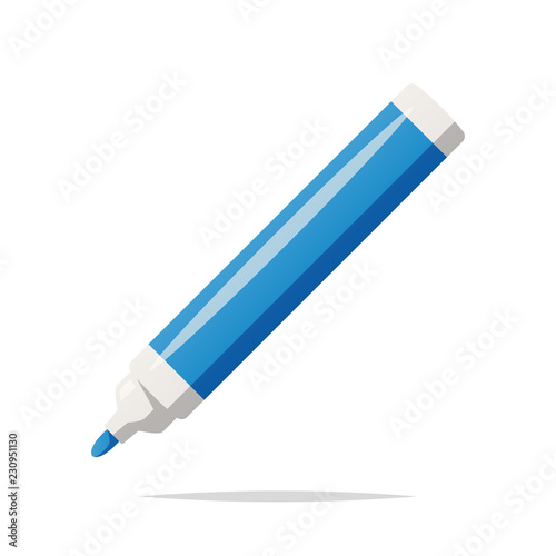 Cuadros en Lienzo Marker pen vector isolated