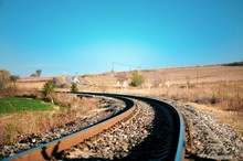 Railroad Track In The Countryside - Turkey