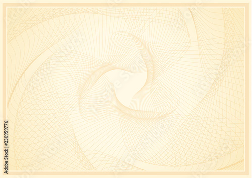 Abstract guilloche pattern (vector complicated line texture) Wallpaper Mural