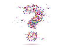 Question Mark Made From Confetti