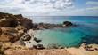 Formentera Calo des Mort playa con aguas transparentes