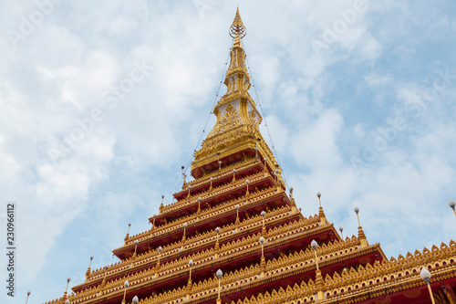 The famous pagoda of Wat Nongwang in Khon Kaen, Thailand.