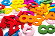 Colored Wooden Numbers