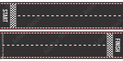 Fotografiet  Karting racing roads