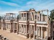 Roman ruins in the Spanish city of Merida