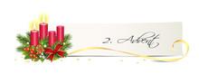 Advent Banner Mit Kerzen, Kart...