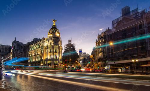 Poster Madrid Madrid,calle Gran vía