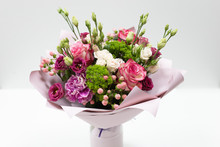 Beautiful Bouquet In Pink Pape...
