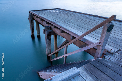 Photo  A long exposure of the iconic port elliot jetty in horseshoe bay port elliot sou