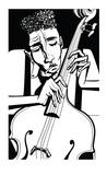 Plakat jazzowy z kontrabasem - 230983799