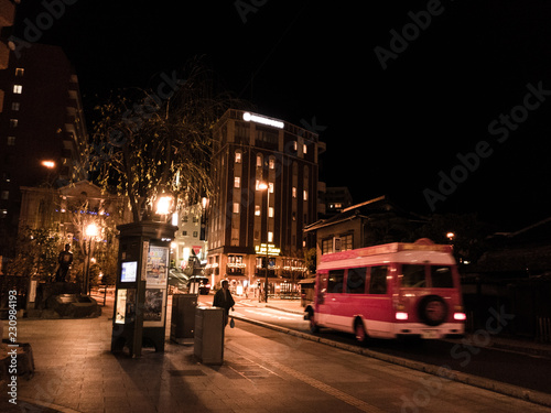 Poster Londres bus rouge 道後の夜