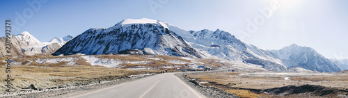 Fotografía  Panoramic view of mountains around Khunjerab, Pakistan-China border