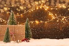 Weihnachten Mit Schneefall