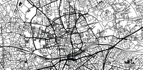 Photo Urban vector city map of Essen, Germany