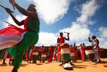 Traditional Burundian Dance With Typical Drums, Burundi