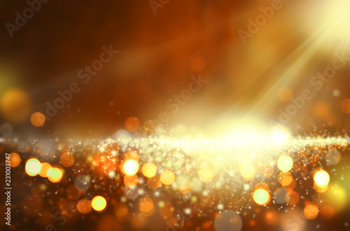 Fotografie, Obraz  Festliches Hintergrundbild mit Goldeffekt