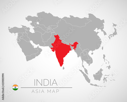 India Map Asia.Map Of Asia With The Identication Of India Map Of India Political