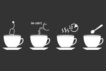 Tea Preparation. Set Of Tea Br...