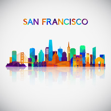 San Francisco Skyline Silhouet...