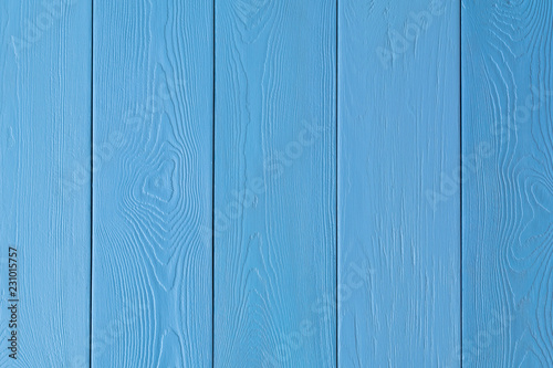 Pinturas sobre lienzo  painted boards in blue, arranged vertically