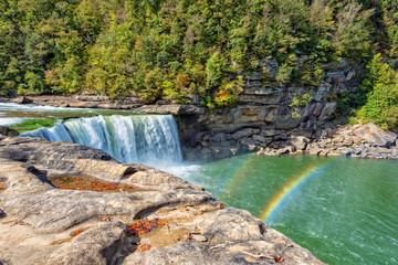 Rainbow At Cumberland Falls In Kentucky