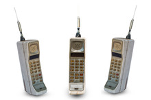 Old Mobile Phone Isolated On W...