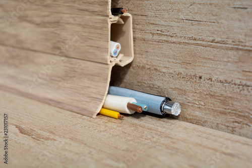Strange Laying Of Wires In A Floor Plastic Skirting Board Laying Wires Wiring Digital Resources Aeocykbiperorg