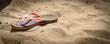 slipper on the sand