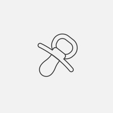 Baby Pacifier Dummy Line Icon