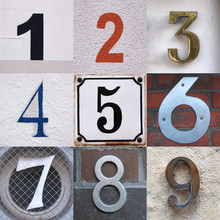 Set Of House Numbers From One To Nine