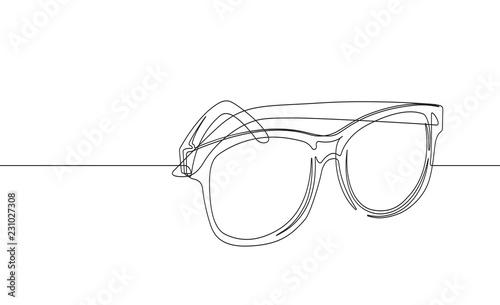 Obraz Sunglasses Continuous Line Vector Graphic - fototapety do salonu