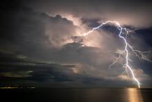 Thunder Storm, Lightning  Over...