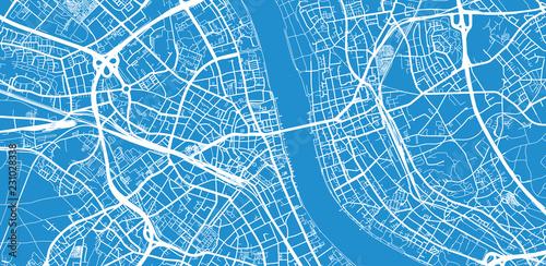 Photo  Urban vector city map of Bonn, Germany