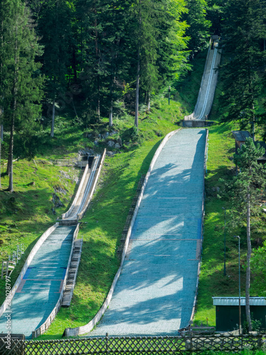 Two ski jumps in Bad Faulenbach