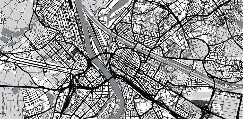 Fototapety, obrazy: Urban vector city map of Mannheim, Germany