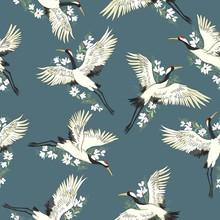 Crane, Pattern, Vector, Illustration