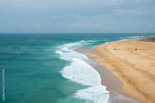 In de dag Kust The coast of Atlantic ocean