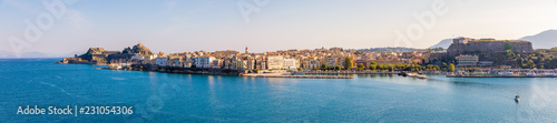 Corfu town in panoramic view from the water in Greece Canvas-taulu