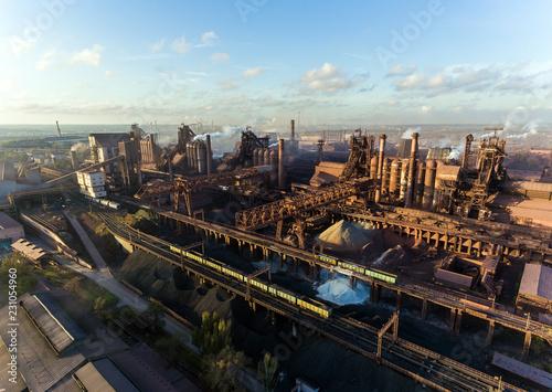 Poster Brooklyn Bridge Industrial city of Mariupol, Ukraine, industrial plants