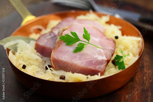Kassler mit Sauerkraut