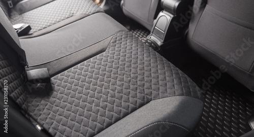 Fotografia Clean black car seats