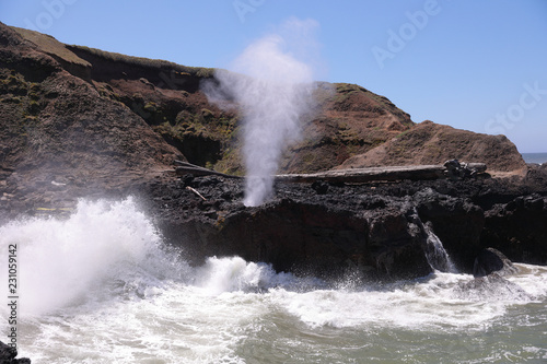 Fotografie, Obraz  View at Spouting horn at Cape Perpetua Scenic Area on Oregon coat