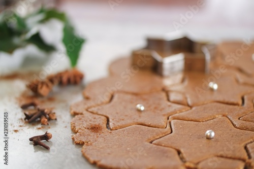 Close up of gingerbread cookies