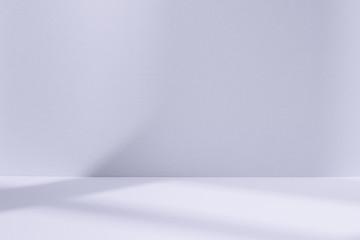 Light blue studio space with window shadow