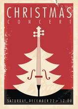 Christmas Concert Retro Poster...