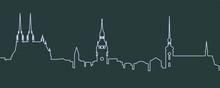 Brno Single Line Skyline