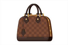 Brown Fashion Woman Bag In Fla...