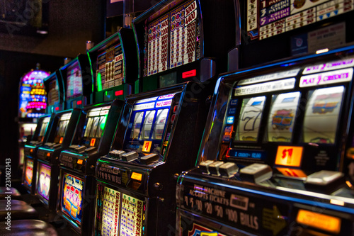 фотография  Las Vegas, Nevada-March 10, 2017: Casino machines in the entertainment area at n