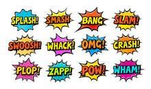 Set Of Comic Speech Bubbles. C...