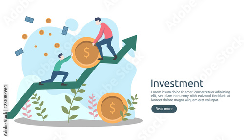 Photo  Business investment concept